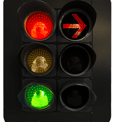 traffic lights and arrows
